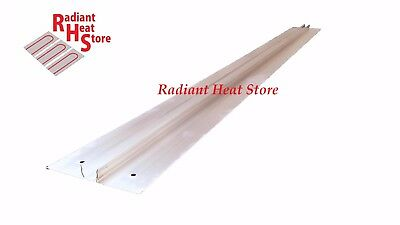 "(50) Extruded Aluminum Snap-In 1/2"" Pex Radiant Floor Heat Transfer Plates 4'"