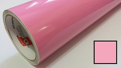 "Gloss Soft Pink Vinyl 24""x150' Roll Sign Making Supplies Decal Craft Decoration"