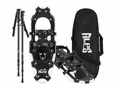 ALPS Snowshoes for Men Women Youth+Optional Snowshoeing Poles+Bag 21/25/27/30/34