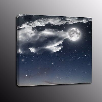 Large Canvas Prints Night star Moon Wall Art Painting Home Decor