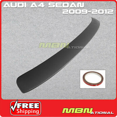 Audi A4 Sedan ROOF Rear Lip Spoiler with Black Primer Finish 2009 to 2012