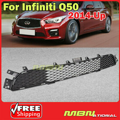 Lower Front Bumper Radiator Grille For Infiniti Q50 2014-2017 Sport Models Only
