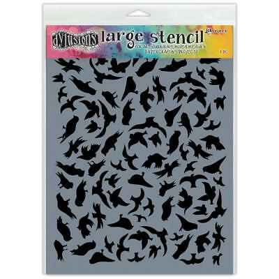Dylusions Stencil - Large 9x12 - Breeze Of Birds
