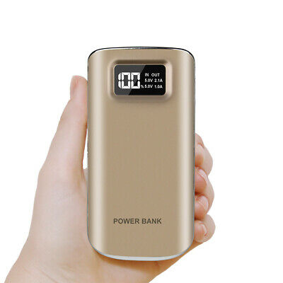 Portable 50000mAh Power Bank 2USB LED Backup Battery Pack Charger For iPhone X
