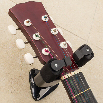 Guitar Wall Mounted Hanger Holder Manual/Auto Lock Hook Stands Racks Display