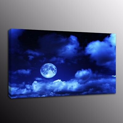 HD Canvas Print Painting Picture Blue moon Wall Art Home Decor