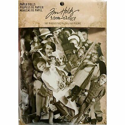 Tim Holtz Idea-Ology - Paper Dolls - 107 Die-Cut Pieces