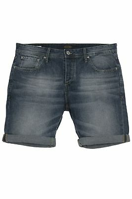 Jack & Jones Rick Jeans Shorts Kurze Hose Pants Bermudas Denim Used Look Slim