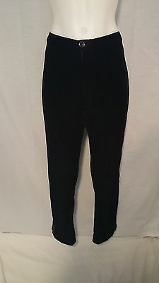 Ladies Vintage Pants in Black Velvet Retro Style Fully Lined Size M