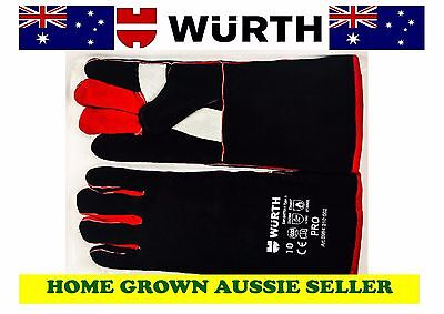 Wurth Premium Welding Gloves - Long, Cowsplit, Kevlar, Fully Lined, Certified