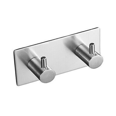 Stainless Steel Towel Self Adhesive Wall Hook Hanger Bathroom Kitchen Door