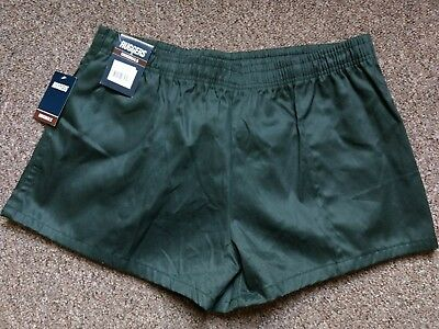 W38 Xl Stubbies Ruggers  Bottle Green Rugby Union Footy Shorts Football