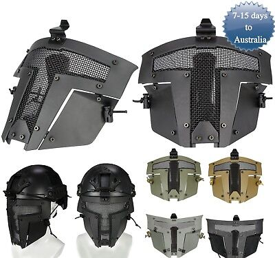 Tactical Airsoft Paintball SPT Sparta Mask Metal Mesh Full Face For Fast Helmet