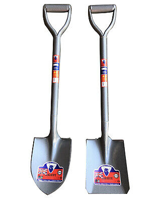 Garden Trench Round&Square Mouth Mini Shovel Spade Metal With Handle