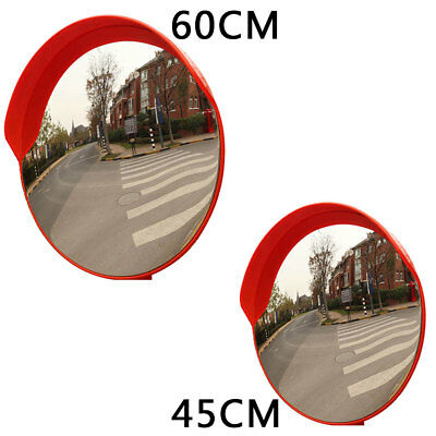 """18"""" 24"""" Wide Angle Security Curved Convex Road Safety Traffic Mirror  Driveway"""