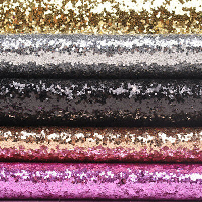 Sparkly Chunky Glitter A4 Sheets Fabric Twinkle Faux Leather Hair Bows Material