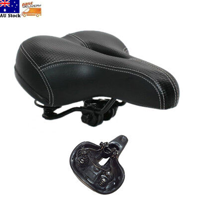 Extra Wide Comfort Cushioned MTB Bike Seat Soft Padded Road Bicycle Gel Saddle