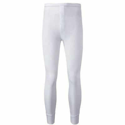 New Thermal White Long Johns Large Underwear Warm Winter Cold Comfort Heat Home