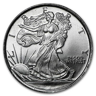 """Best Lot Drawer: 1/10 oz. 999 Pure Solid Silver Round/Coin: """" Walking Liberty """""""