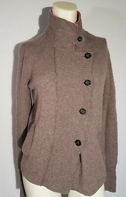 27bccf6802922d Banana Republic Womens Sz S Button up Sweater Jacket Wool blend Cable Knit  Taupe