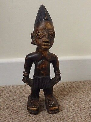 Well carved single West African Tribal Art wooden Nigerian male Ibeji figure NR