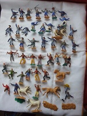 Vintage Timpo  Soldiers/Cowboys/Indians Mixed Collection For Spares/Repair