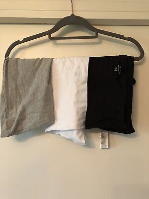Three New Look Maternity Bump Bands Size M/L Black White Grey