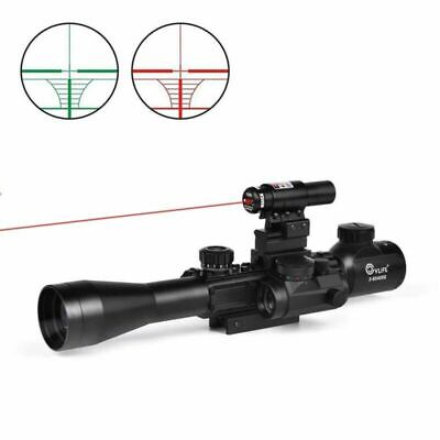 3-9X40 Illuminated Tactical Rifle Scope w/ Red Laser & Holographic Dot Sight