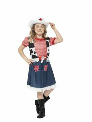 Girls Childrens Cowgirl Sweetie Fancy Dress Costume Wild West Book Day Outfit