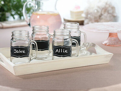 Set of 20 Wedding Events Party Chalkboard Glass Name Sticker Clings SF