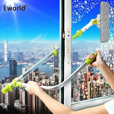 Telescopic High-rise Window Cleaning Glass Cleaner Brush For Washing Window Dust