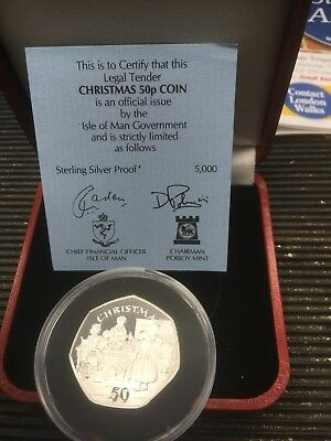 isle of man silver proof 1998 Christmas 50p