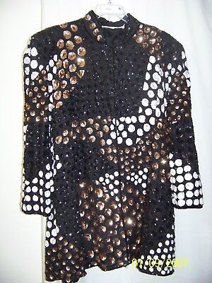 Vintage French Collizioni Sequin And Beaded Jacket Size 2X