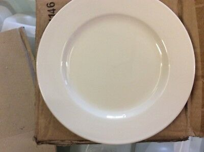 """36 x White Wide Rimmed Plate 8"""" Plates Professional Hotelware BS4034 Joblot"""