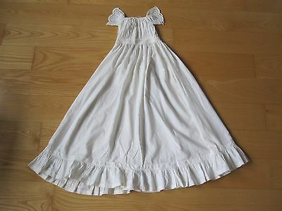 Antique 19Th C White Broderie Anglais Ayrshire Baby Christening Gown Doll Dress
