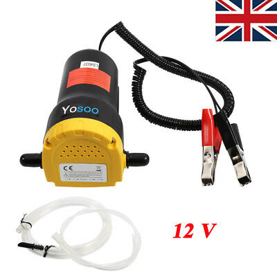12V 60W Self-priming Mini Transfer Pump Oil Diesel Extractor Car Motorbike UK
