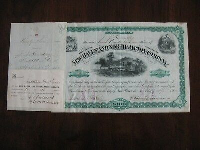 1882 NEW HAVEN AND NORTHAMPTON COMPANY  ISSUED STOCK CERTIFICATE No. 10