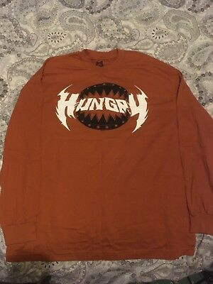 **new** Wwe Ryback Hungry Feed Me More (Xl) Official Long Sleeve T-Shirt Big Guy