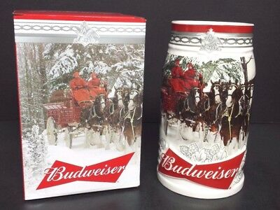Budweiser 2017 Holiday Retreat Annual Holiday Christmas stein  NEW