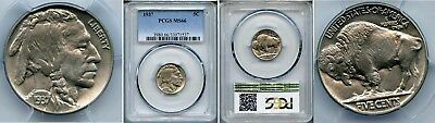 1937  Buffalo  Nickel  Pcgs  Ms66