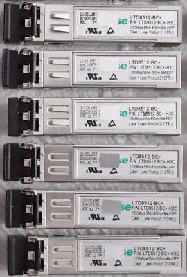 10x HP X120 1g SFP LC SX Transceiver Ltd8512-bc-h3c 1GB