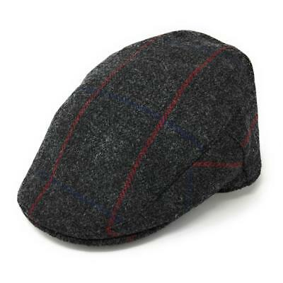 Christys Fine Scottish Tweed Flat Cap - Balmoral. Lined. 100% Pure British Wool