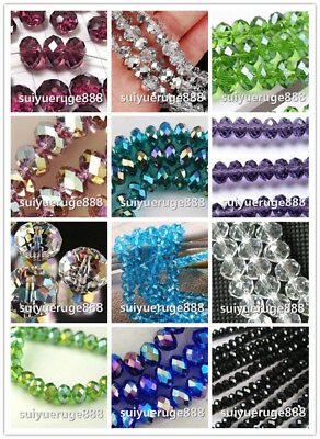 Hot Sale Wholesale Glass Crystal Faceted Rondelle Spacer Loose Beads 6mm 8mm