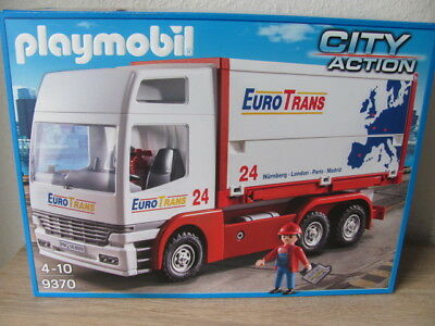 "Playmobil® 9370 LKW ""EURO TRANS"" + CONTAINER NEU & OVP"