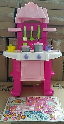 Portable Electronic Children Kitchen Kids Cooking Role Play Toy Cooker Set Game