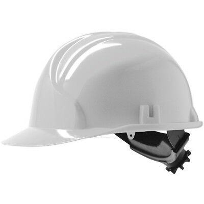 JSP MK 3 Hard Hat/ Safety Helmet w/ Ratchet Wheel. White, Yellow, Blue & Red
