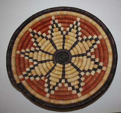 HOPI Indian Coil Sunflower  Basket  - Beautiful weaving and design - a collector