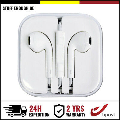 iPHONE IPAD IPOD IN EAR PODS HEAD PHONES BUDS ECOUTEURS - MIC & VOLUME CONTROLS