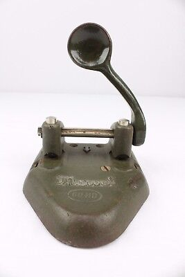Marvel 60 HD Antique Cast Iron 2 Hole Punch Wilson Jones Paper Puncher Made USA