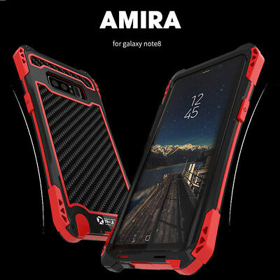 Samsung Galaxy Note 8 S10 R-JUST Aluminum Shockproof Metal Heavy Duty Case Cover